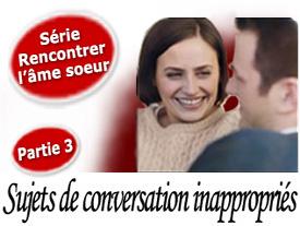 Sujet de conversation rencontre internet